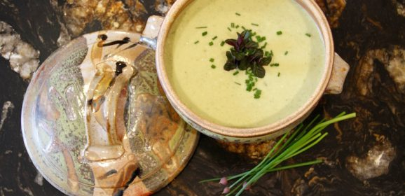 Chilled Sour Cream-laced Cucumber Soup