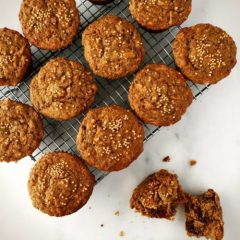 Multigrain Carrot, Date and Mustard-spiked Muffins