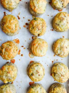 Cheddar, Chive and Mustard Spelt Biscuits